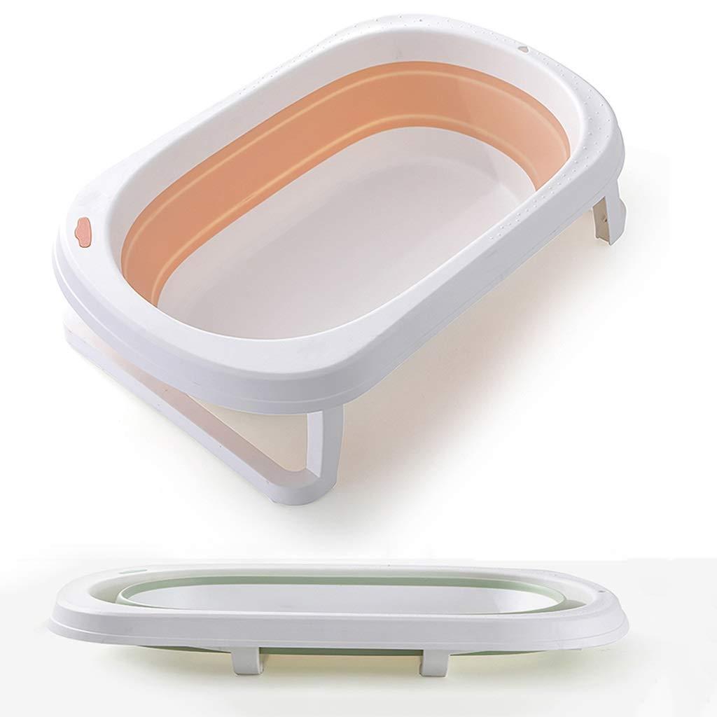QBYLYG Basin for Feet Collapsible Bathing Tub, Large Space Folding Baby Bath Tub Foldable Shower Basin Collapsible Baby Bathtub Baby Shower Basin (Color : Orange) by QBYLYG