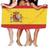 Unisex Spain Flag CustomPrinted Personalised Custom Bath Towels 100% Polyester,Superfine Fiber Super Absorbent,for Home/Bathrooms/Pool/Gym (31'' 51'')