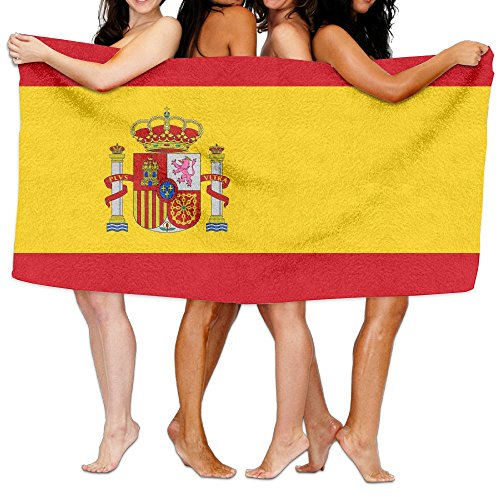 Unisex Spain Flag CustomPrinted Personalised Custom Bath Towels 100% Polyester,Superfine Fiber Super Absorbent,for Home/Bathrooms/Pool/Gym (31'' 51'') by TRUSKC