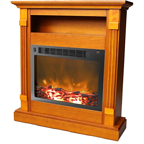 Cambridge Sienna Fireplace Mantel with Electronic Fireplace Insert,