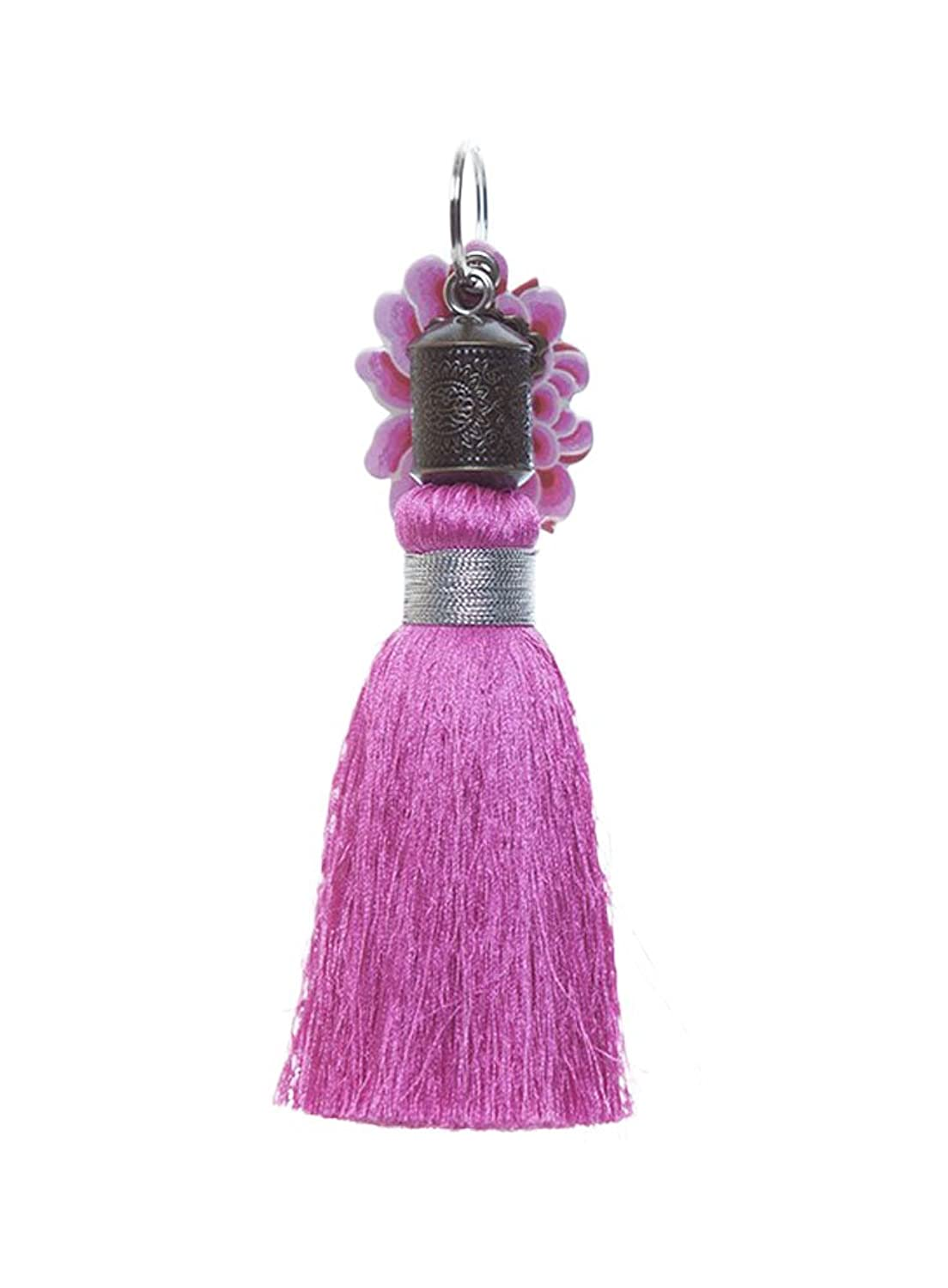 Papaya Art Magenta Tassel Key Chain