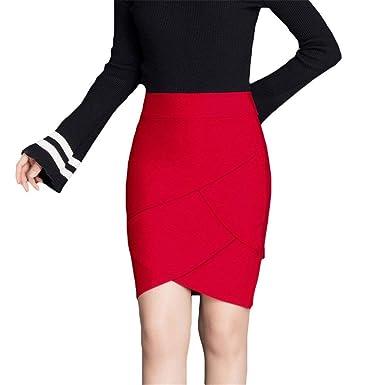 Saoye Fashion Señoras Faldas Lápiz Mini Falda Corta Elástica De ...
