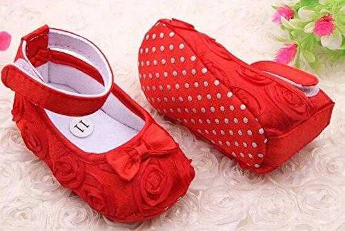 leayao Mädchenschuhe für Neugeborene 11cm rot