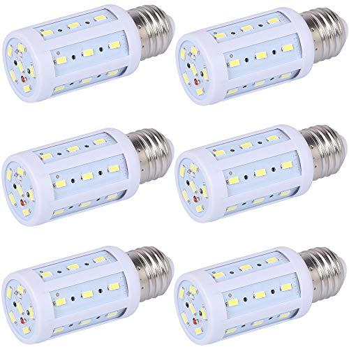 LED Corn Light Bulb 6 Pack 40W Equivalent 6000K Daylight White 550 Lumens