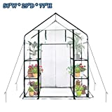 CIRTE Walk In Greenhouse-3 Tiers 6 Shelves-56 W x 29'' D x 77'' H