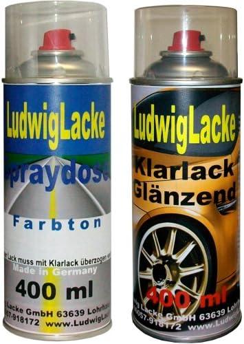 Ludwiglacke Reflex Silver La7w 8e 8e8e Für Vw Spraydosen Set Autolack Klarlack Je 400ml Auto