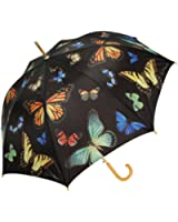 Harold Feinstein Auto Open Butterfly Cane Umbrella