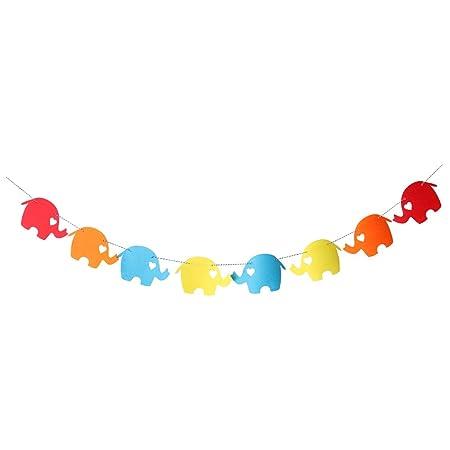 Elefante Gracioso Sentido Cartel para Navidad Guirnalda ...