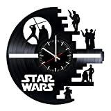 Star Wars Characters Vinyl Records Wall Clock - Original Present For Epic Movie's Fans - Superhero Wall Art Room Decor Handmade Decoration Party Supplies Theme Birthday Gift - Vintage And Modern Style