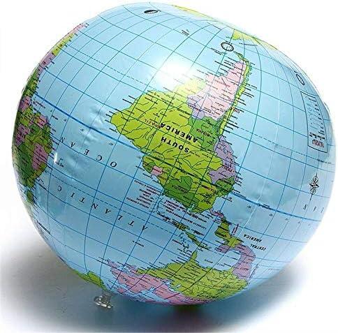 HUIJUNWENTI Tierra de Bola de 30 cm Inflable Blow Up Mundial de la ...
