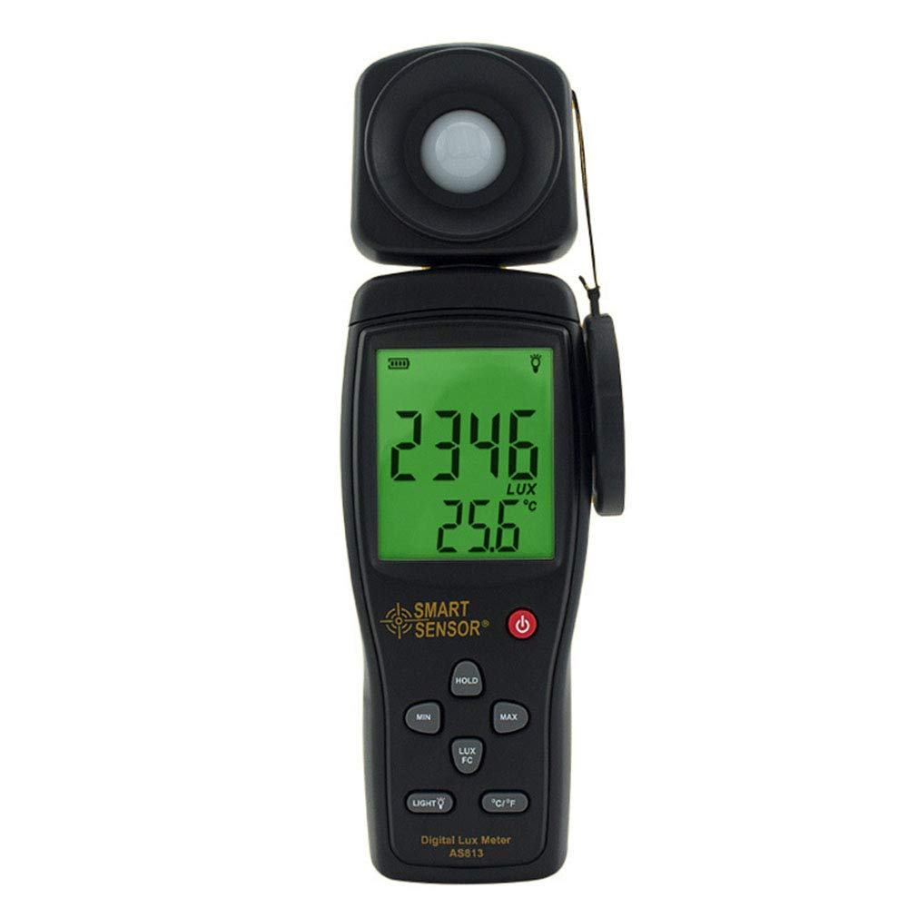 Light Meter Light Meters Digital Illuminance Meter Handheld Ambient Temperature Measurer with Range Up to 100000 Lux Luxmeter with 4 Digit LCD Screen by Lee Lam