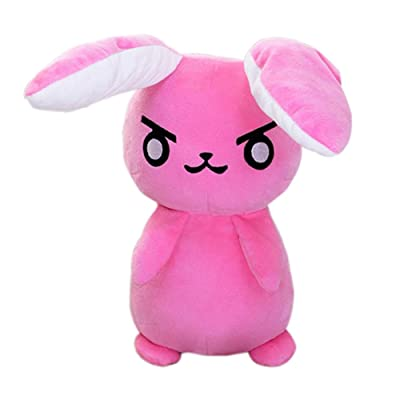 1PC 50cm Overwatches Game Anime Pioneer Dva Rabbit Plush Toys Soft Stuffed Animals Doll Pillows Cosplay Props Kids Toys Gifts Pink: Clothing