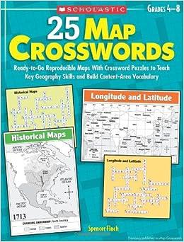 25 Map Crosswords ReadytoGo Reproducible Maps With Crossword