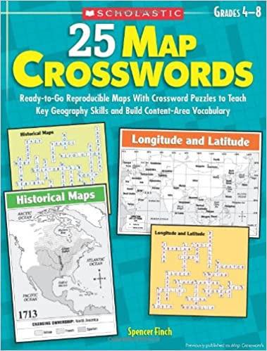 25 Map Crosswords: Ready-to-Go Reproducible Maps With Crossword ...