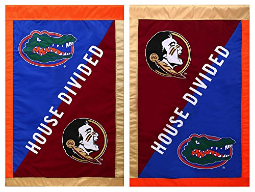 Evergreen Enterprises Spring - Florida State Seminoles Official NCAA 28 inch x 44 inch House Divided House Flag by Evergreen
