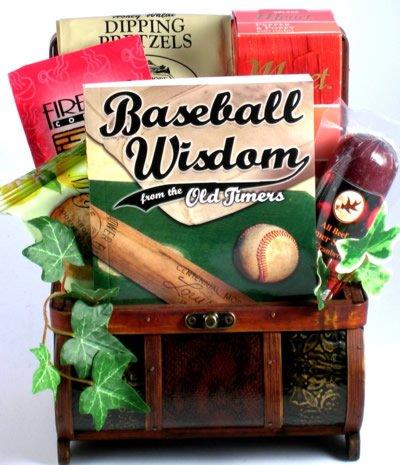 Take Me Out to the Ballgame!   Gourmet Baseball Gift Basket of Delicious Snacks