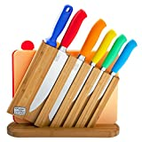 Chicago Cutlery 9 Piece Stainless Steel Knife Set With Block, Sharpener, Cutting Boards, and Wooden Boxed Chef Knives