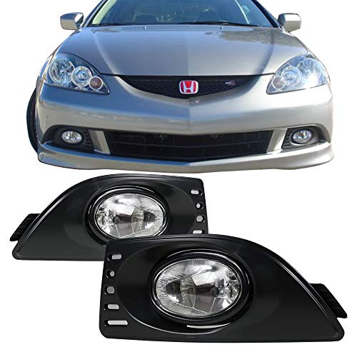 Fog Lights Fits 2005-2007 Acura RSX | Front Bumper Clear Fog Lamps Left Right by IKON MOTORSPORTS