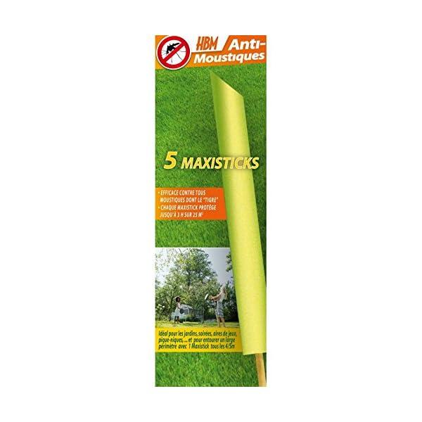 HBM Anti-Moustiques 001-RE-BAT001 5 Maxisticks Anti zanzare 1 spesavip