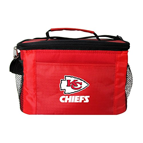 NFL Kansas City Chiefs Team Logo 6 Can Cooler Bag or Lunch Box - (Kansas City Chiefs Lunch Box)