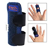 Qleng Trigger Finger Splint Brace, Adjustable Fixing Belt with Built-in Aluminium Bar Support for Fingr Straightening Tendon Release & Pain Relief, One Size Fits All Fingers