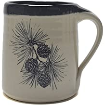 Great Bay Pottery Pine Cone Coffee Mug