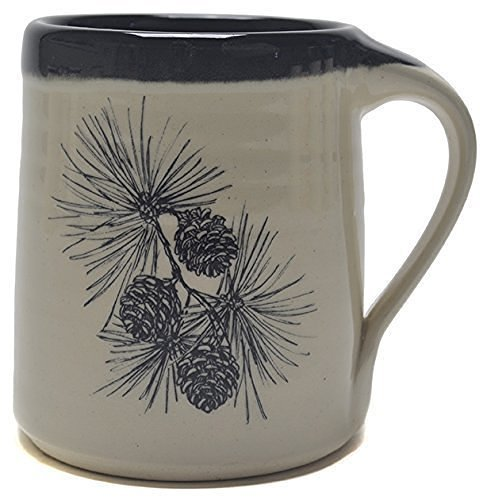 Great Bay Pottery Pine Cone Coffee Mug made in New Hampshire