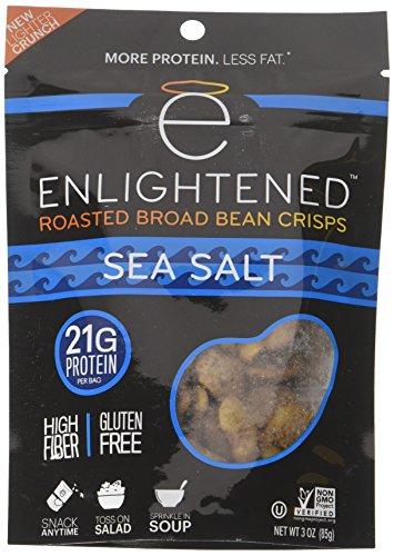 ENLIGHTENED BROAD BEAN (FAVA BEANS) CRISPS 6-3 oz BAGS (SEA SALT)