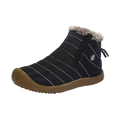 Men Women Winter Warm Ankle Snow Boots Fur Lined Waterproof Anti-Skid Sneakers