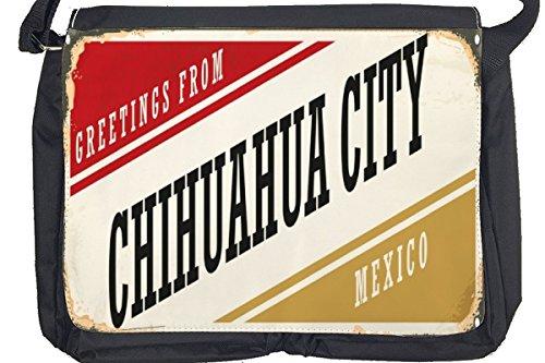 Borsa Tracolla Voglia Viaggiare Città Chihuahua Messico Stampato