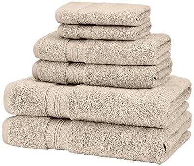 Pinzon Low Twist Pima Cotton 650-Gram 6-Piece Towel Set