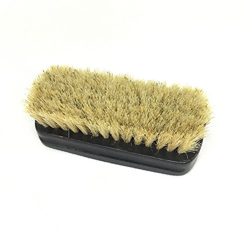 EvaGO Shoe Shine Brushes with Hog Hair Bristles, Polish Applicator (Light Brown, Total 2 Pack) by EvaGO (Image #1)