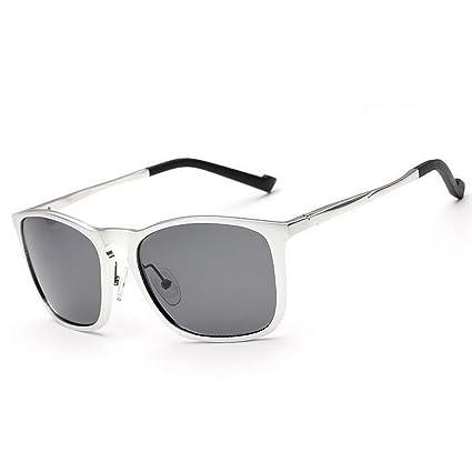 Retro Gafas de sol polarizadas de los hombres ligeros Marco de aluminio y magnesio Protección UV