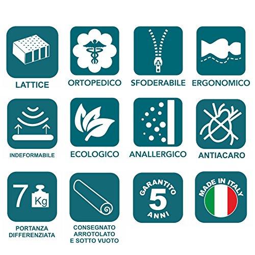 Materassi In Lattice Evergreen.Energy Milk Materasso 100 Lattice Singolo 80x180 Cm Amazon It
