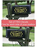 Mailbox Decals Set of 2 Frame with Swirls House Number and Street Name Address