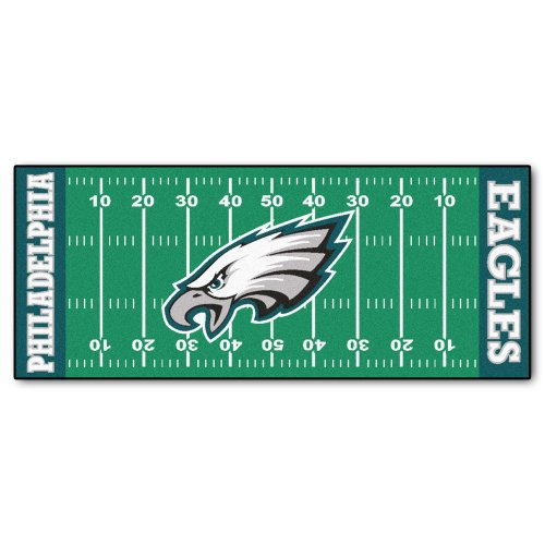 FANMATS NFL Philadelphia Eagles Nylon Face Football Field Runner ()