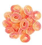 Sweetsome Peach Rings, Soft Gummy Rings Candy, 5