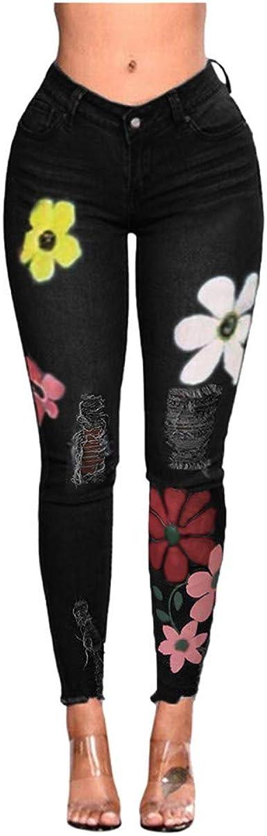 Women Stretchy Skinny Jeans Denim Pencil Pants Lady Slim Fit Jeggings Trousers