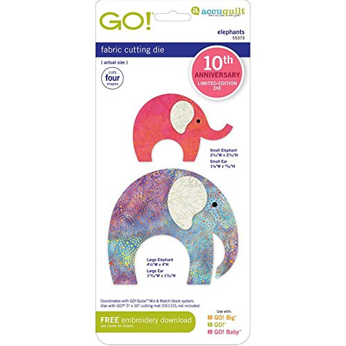 AccuQuilt GO! Die Elephants 55373 10th Anniversary Limited Edition by AccuQuilt