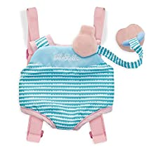 """Manhattan Toy Wee Baby Stella Travel Time Carrier Set Soft Baby Doll Accessory for 12"""" Dolls"""