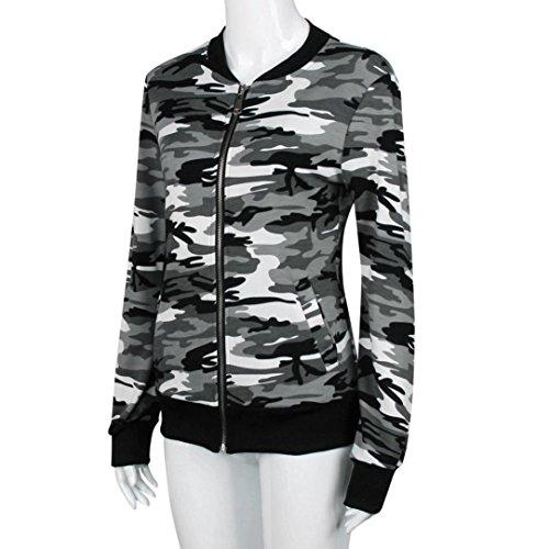 RETUROM -Camisetas Camiseta para Hombre, Manga Corta con Cuello en V de Camuflaje Casual Estampado de Camuflaje…