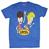 90s merchandise - Beavis & Butt-Head Americans Blue Graphic T-Shirt (3XL)