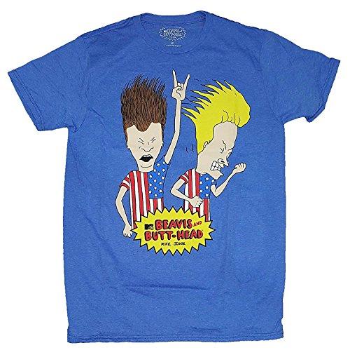 Beavis & Butt-Head Americans Blue Graphic T-Shirt (3XL)