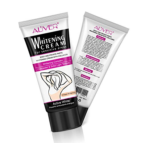 Whitening Cream, Dark Skin Lightening Cream for Sensitive Areas, Private Parts, Armpit by Aliver (60ml)