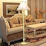 Fu Man Li Trading Company American retro European style vertical creative bedroom resin living room crystal pendant floor lamp A+