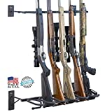 Hold Up Displays - Gun Rack and Rifle Storage Holds 6 Winchester Remington Ruger Firearms and More - Heavy Duty Steel - Made in USA