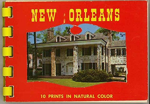 New Orleans Louisiana - Miniature Souvenir Photo Album - Plastic Comb Binding - 1960