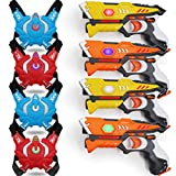 POKONBOY Toy Laser Tag for Kids - Laser Tag Sets with Gun and Vest Multiplayer Game for Kids Adults ( 4 Sets )