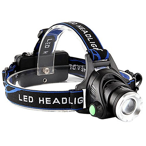 Diving Adjustable Hat - Power King Waterproof USB Rechargeable Hardhats LED Headlamp Flashlight for Camping (Headlamp-1)