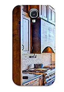 Hot Snap-on Stained Wood Kitchen Cabinets And Range Hood Hard Cover Case/ Protective Case For Galaxy S4